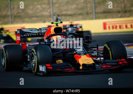 Red Bull Racing französischen Fahrer Pierre Gasly konkurriert während der Ungarischen F1 Grand Prix am Hungaroring.