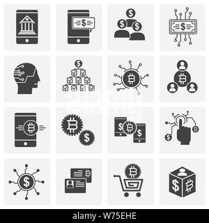 Financial Technologies ähnliche Symbole auf dem Hintergrund für Grafik- und Webdesign. Einfache Abbildung. Internet Konzept Symbol für Website Taste oder - Stockfoto