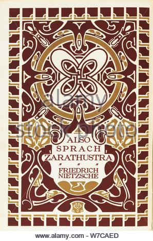 Buch Cover von Also sprach Zarathustra von Friedrich Nietzsche. Leipzig, Insel Verlag, 1908. Künstler: Anonym - Stockfoto