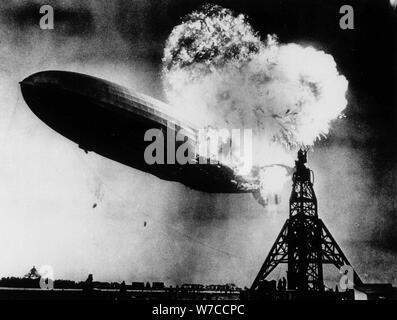 Die Hindenburg Disaster 6. Mai 1937 in Lakehurst. - Stockfoto