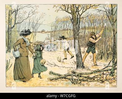 Der Woodman, aus vier und zwanzig Arbeiter, Pub. 1900 (farblithographie) - Stockfoto