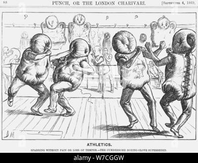 """Athletik"", 1869. Artist: George Du Maurier - Stockfoto"