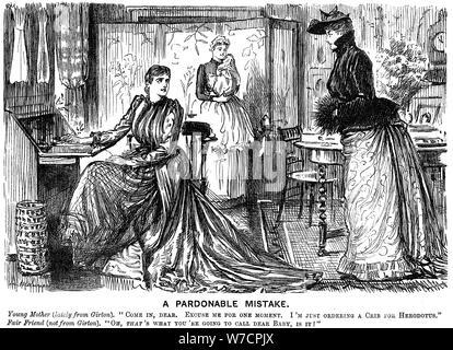 """""""Ein Verzeihlich Fehler', 1889. Artist: George Du Maurier - Stockfoto"""