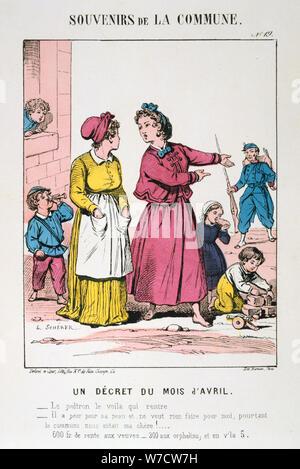 Pariser Kommune, 1871. Artist: Anon - Stockfoto