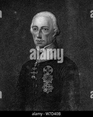 Franz II., Kaiser des Heiligen Römischen Reiches, 1814. Artist: Unbekannt - Stockfoto