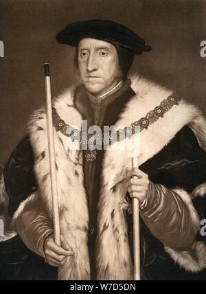 'Thomas Howard, Dritter Herzog von Norfolk', c 1530 s, (1902). Künstler: Hans Holbein der Jüngere - Stockfoto