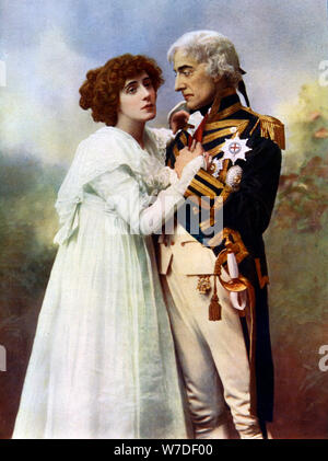 Johnston Forbes-Robertson (1853-1937) und Frau Patrick Campbell (1865-1940), 1899-1900. Artist: W&D Downey - Stockfoto