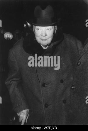 Sir Winston Churchill (1874-1965), britischer Premierminister, 1961. Artist: Unbekannt - Stockfoto