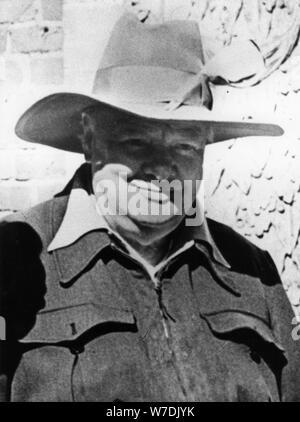 Winston Churchill (1874-1965), britischer Premierminister, c 1950. Artist: Unbekannt - Stockfoto