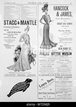 Eine Werbung Seite in Heim und Herd, den 30. November 1899. Artist: Unbekannt - Stockfoto