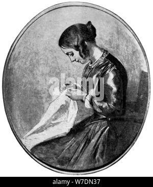 Miss Georgina Hogarth, c 1850 (1912). Artist: Unbekannt - Stockfoto