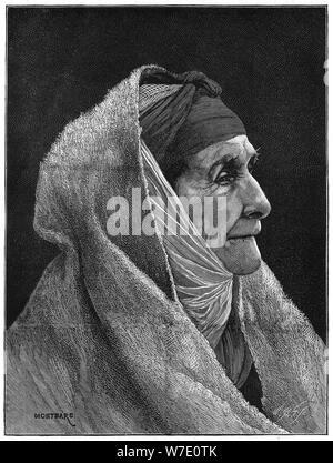 Alte jüdische Frau von Kairo, Ägypten, 1882. Artist: Montbard - Stockfoto