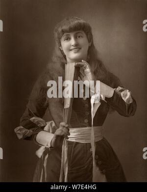Britische Schauspielerin Alice Atherton in 'Oliver murrt', 1886. Artist: Barraud - Stockfoto