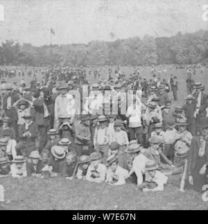 """Die groben von New York, USA, 1888. Artist: BW Kilburn - Stockfoto"
