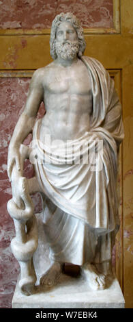 Statue von Asklepios, der Griechische Gott der Heilkunst, 2. Artist: Unbekannt - Stockfoto