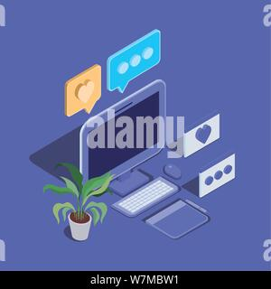 Desktop Computer Technology gerät Symbol - Stockfoto