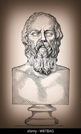 Sokrates, 469-399 v. Chr., Philosoph der griechischen Antike - Stockfoto