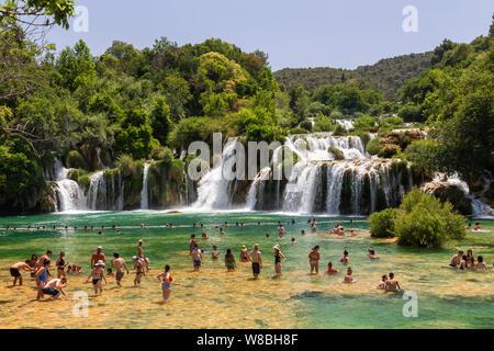 Skradinski Buk Wasserfälle im Nationalpark Krka, Kroatien - Stockfoto