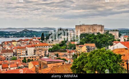 St. Michael's Festung in Sibenik, Kroatien - Stockfoto