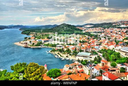 Stadtbild von Sibenik in Kroatien - Stockfoto