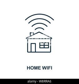Home WiFi Symbol Umriss Stil. Einfache Glyphe aus Icons Sammlung. Line Home WiFi Symbol für Web-Design und Software - Stockfoto