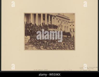 Abraham Lincoln seine zweite Antrittsrede als Präsident der Vereinigten Staaten, Washington, D.C. - Stockfoto