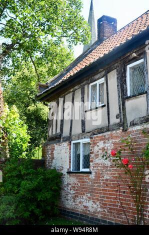 Das alte Pfarrhaus im Dorf Scrooby, North Nottinghamshire, UK Home von William Brewster, war einer der Pilgrim Fathers. - Stockfoto