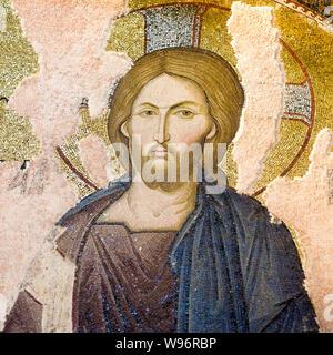 Mosaik des Christus Pantokrator in Chora-Kirche, Istanbul, 11. Oktober 2013 - Stockfoto