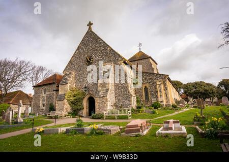 St Margaret's Church, Rottingdean in der Nähe von Brighton, East Sussex, Großbritannien - Stockfoto