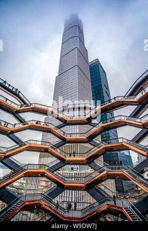 USA, New York City, Manhattan, Midtown, Hudson Yards, Das Schiff - Stockfoto