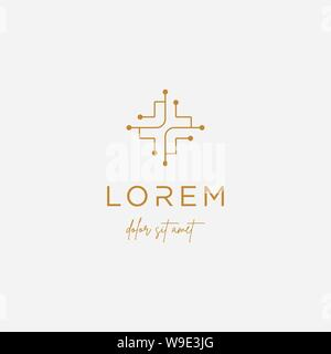 Cross medical Logo Design Vector isolierte Symbol - Stockfoto
