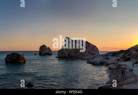 Felsen der Aphrodite, Petra tou Romiou, Kouklia, Zypern, Zypern, 30070094 - Stockfoto