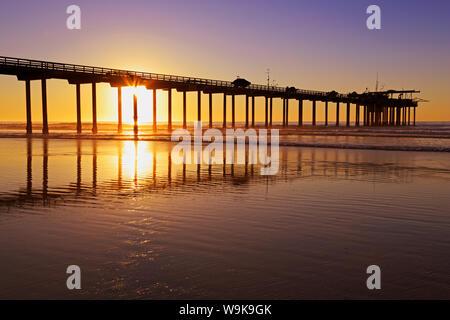 Scripps Pier, La Jolla, San Diego, Kalifornien, Vereinigte Staaten von Amerika, Nordamerika - Stockfoto