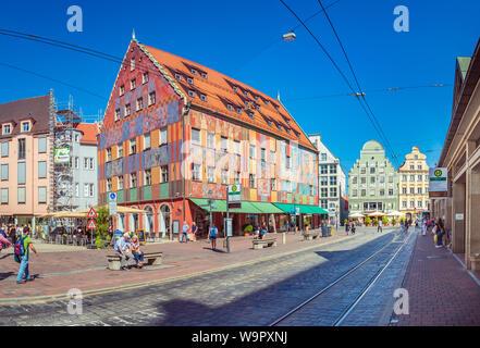AUGSBURG, Bayern, Deutschland - ca. September, 2018: Die moritzplatz von Augsburg in Bayern, Deutschland - Stockfoto