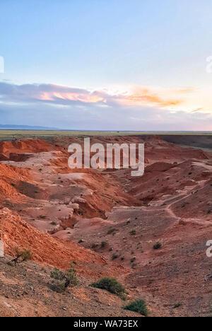 Bayanzag Flaming Cliffs, Wüste Gobi, Mongolei - Stockfoto
