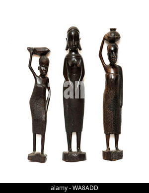 Afrikanische Figurenschnitzereien von weiblichen Figuren - Stockfoto