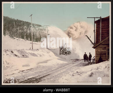 Colorado Schnee auf dem Colorado Midland R.R., Hagerman Pass Pflug - Stockfoto