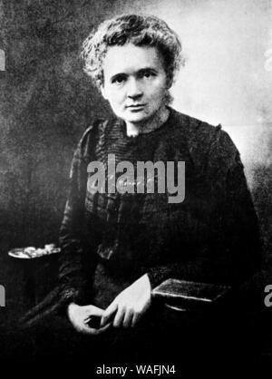 Marie Curie Sklodowska (7.11.1867 - 04,17. 1934) ist ein weltweit bekannter Physiker und Chemiker bekannt für ihre Arbeit an Radioaktivität. Marie war in Warschau in Polen geboren und zog später nach Paris ihr Studium weiter. Sie war die erste Frau, die den Nobelpreis und die erste Person, die Nobelpreise erhalten zu vergeben, in Physisc und Chemie. fot. Jan Morek/Forum - Stockfoto