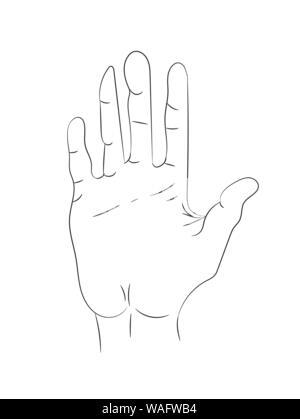 Hand gezogenen Linien auf weißem Hintergrund - Stockfoto