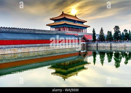 Hinteres Gatter himmlische Reinheit, die Verbotene Stadt, Beijing, China. Der Kaiserpalast gebaut während der Ming Dynastie - Stockfoto
