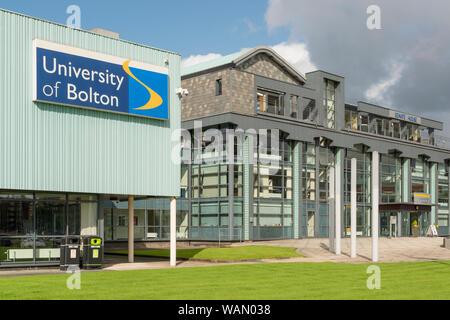Beschilderungen für die Universität von Bolton (nur redaktionelle Nutzung). - Stockfoto