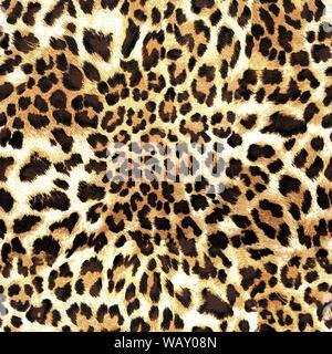 Leopard Skin Texture nahtlose Muster - Stockfoto