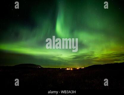 Aurora Borealis - das Nordlicht über Island Stockfoto