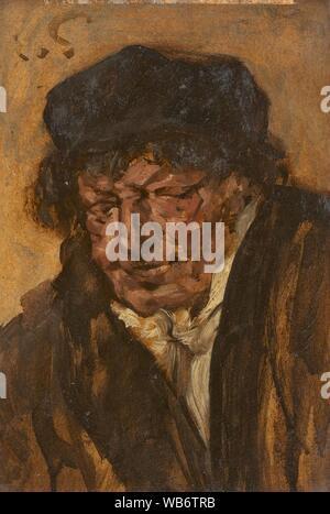Eduard von Gebhardt Bildnis eines Mannes mit Barett. - Stockfoto