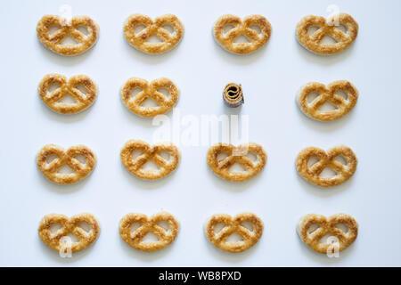 Einige Cookies für Kaffee - Stockfoto