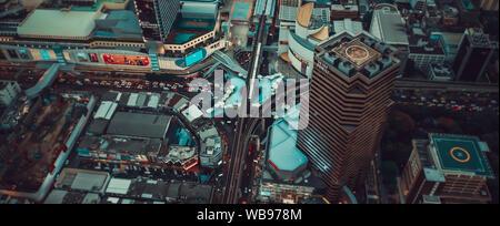 Siam und Rachathewi Blick von oben, in Bangkok, Thailand - Stockfoto