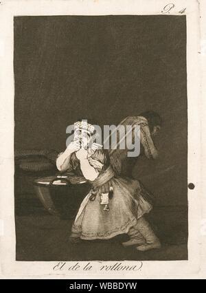 El de la rollona. Avery, Samuel Putnam, 1822-1904 (Kollektor) Goya, Francisco (1746-1828) (Künstler) Rossetti, Dante Gabriel (1828-1882) (Ehemalige - Stockfoto