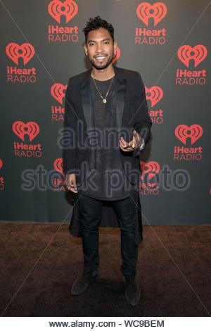 Las Vegas, NV-Miguel besucht die iHeartRadio Music Festival in Las Vegas. AKM-GSI, 21. September 2013 - Stockfoto