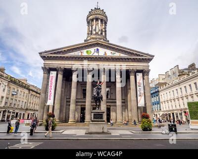 Glasgow Galerie der Modernen Kunst am 20. Juli 2017 in Glasgow, Schottland. Die Galerie der Modernen Kunst ist die größte Galerie für Zeitgenössische Kunst in Glasgow, SCO - Stockfoto