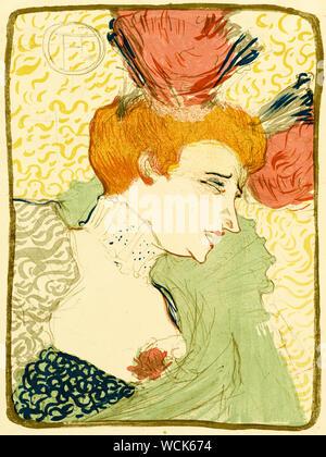 Henri de Toulouse Lautrec, Büste von Mademoiselle Marcelle Lender, Drucken, 1895 - Stockfoto